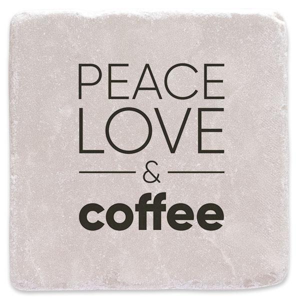 Káva, mír a láska
