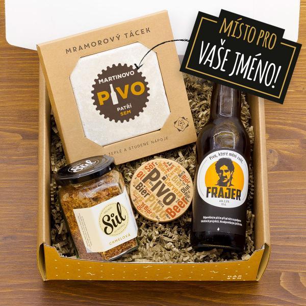 Dárkový balíček Frajer s táckem a pivem