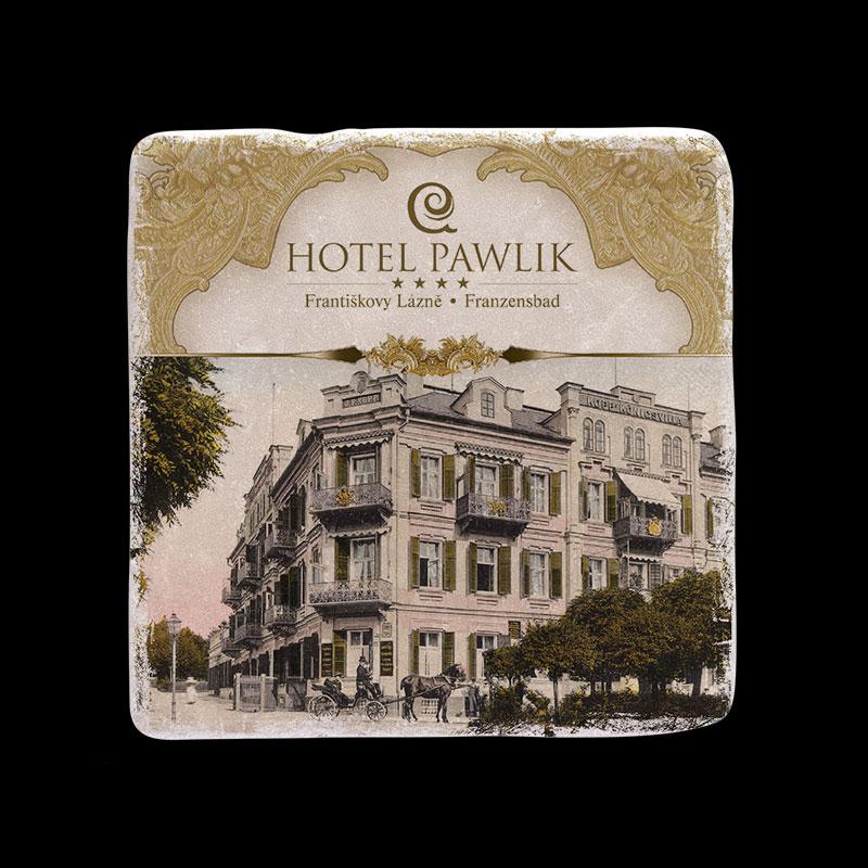 Mramorový tácek jako dárkový předmět pro Hotel Pawlik