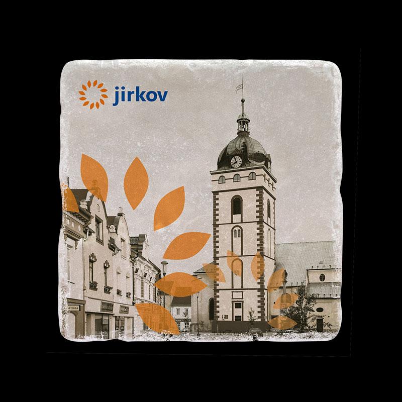 Mramorový tácek pro město Jirkov