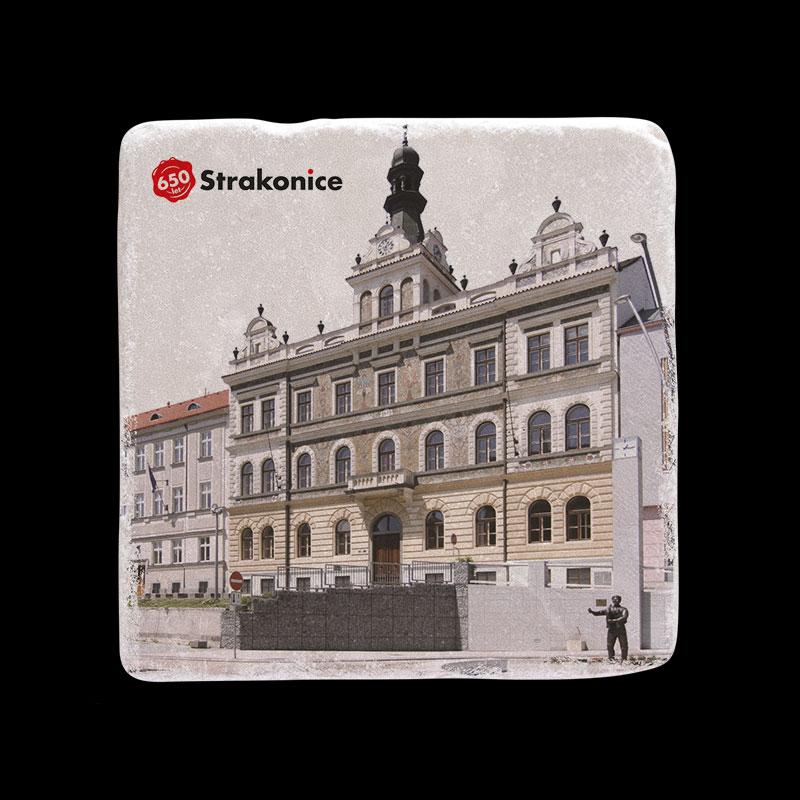 Mramorový tácek k výročí města Strakonice